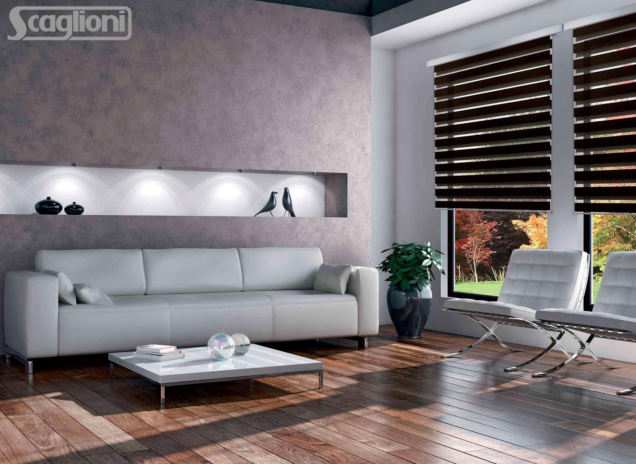 Tende a rullo per ambienti moderni mapi tende magenta for Ambienti interni moderni